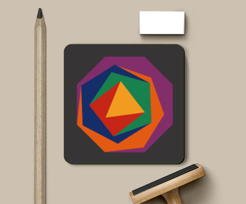 Abstract geometry polygons Coasters | Artist : Gauri Deshpande