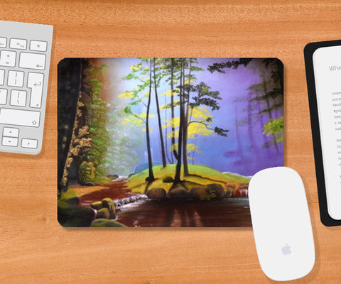 Forest Oil Painting Mousepad | Artist : Rahul Tanwar