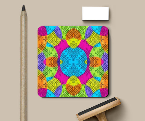 Indian Twisties Coasters | Artist : the unskilled artist