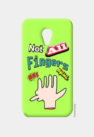 Not All Fingers Are Equal (Green Back) Moto G2 Cases | Artist : Nitin Kapoor