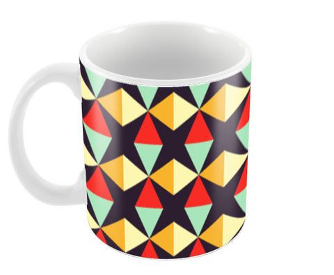 Geometric triangle subtle pattern Coffee Mugs | Artist : Designerchennai