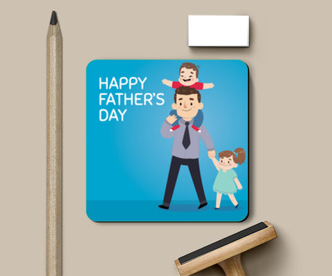 Cute Kids Playing With Dad Father's Day | #Father's Day Special  Coasters | Artist : Creative DJ