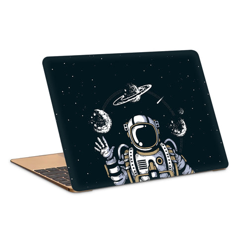 Astronaut In Space Artwork Laptop Skin
