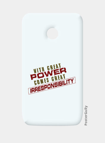 With Great Power Comes? Moto E Cases | Artist : Kaushal Faujdar