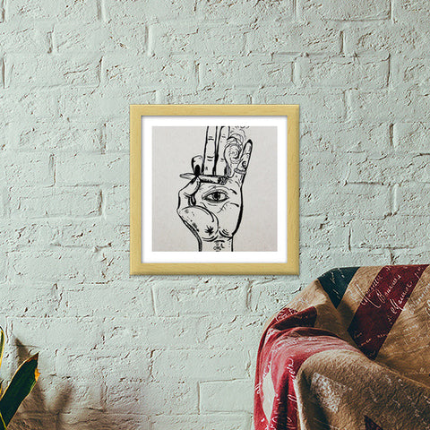 jai sambo Premium Square Italian Wooden Frames | Artist : the scribble stories
