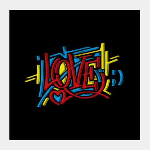 love graffiti Square Art Prints | Artist : chetan adlak