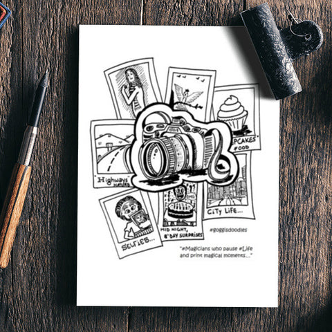 Passion for Photography !! Notebook | Artist : Goggi's Doodles
