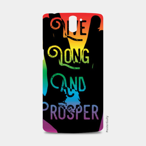 Live Long And Prosper Rainbow One Plus One Cases | Artist : Anshul Patria