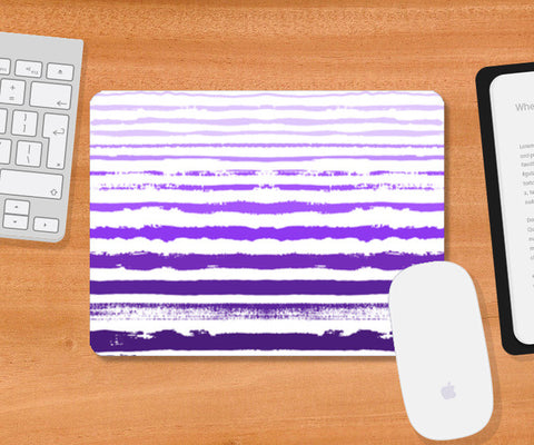 Uneven Purple Stripes Mousepad | Artist : Amantrika Saraogi