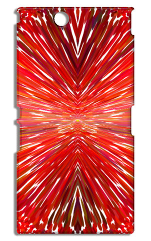 Abstract Red Burst Modern Design Sony Xperia Z Ultra Cases | Artist : Seema Hooda