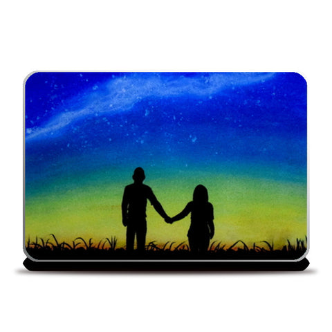 Sunset Love Painting Laptop Skins | Artist : Rahul Tanwar