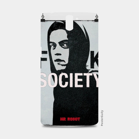 Mr. Robot TV Show Mobile Cover Case One Plus One Cases | Artist : Akshit Banta