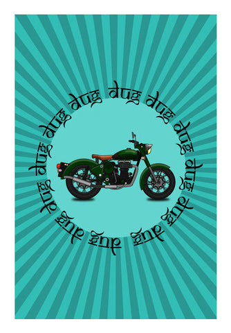 royal enfield Wall Art | Artist : Himanshu Sood