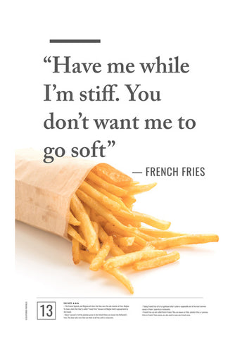 Junk Seduction_French Fries Wall Art | Artist : Scatterred Partikles