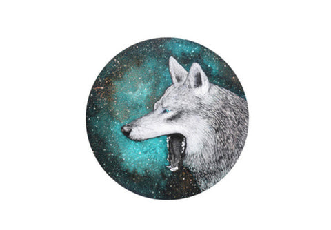 Blue Wolf Wall Art  | Artist : Prakersh Gupta