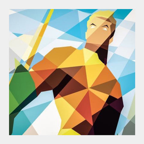 Square Art Prints, Aquaman Square Art Prints | Artist : Divakar Singh, - PosterGully