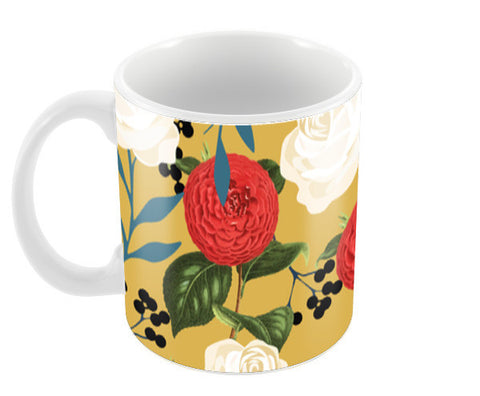 Floral Obsession Coffee Mugs | Artist : Uma Gokhale