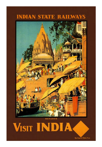 Vintage India Travel Poster Wall Art | Artist : GABAMBO