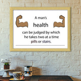 Gym Motivation Quote Premium Italian Wooden Frames | Artist : Kinjal Waghela