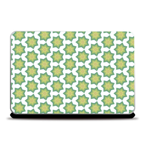 Green Stars Laptop Skins | Artist : Delusion