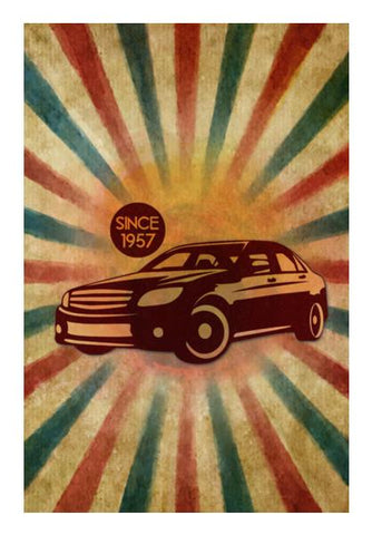 PosterGully Specials, Vintage Car Wall Art | Artist : Mosaik | PosterGully Specials, - PosterGully