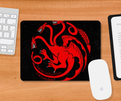 Mousepad, House Targaryen - Game Of Thrones Mousepad | Artist : Gurmeet, - PosterGully