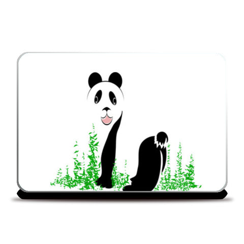 THE PANDA is a symbol of gentleness and strength. it is an auspicious symbol of peace, harmony Laptop Skins | Artist : amit kumar