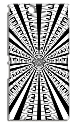 Abstract Geometric Black And White Designer Pattern Sony Xperia Z Ultra Cases | Artist : Seema Hooda