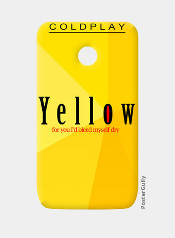 Moto E Cases, Yellow - Coldplay Moto E Cases | Artist : Aishwarya Tandon, - PosterGully