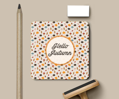 hello autumn Coasters | Artist : DISHA BHANOT
