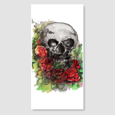 a skull symbolize our morality and death's relationship to life. Door Poster | Artist : amit kumar