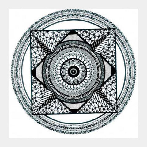 Square Art Prints, Mandala Square Art Prints | Artist : Neerja Misra, - PosterGully
