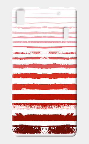 Uneven Red Stripes  Lenovo K3 Note Cases | Artist : Amantrika Saraogi