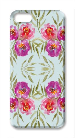 Abstract Watercolor Roses Pretty Floral Pattern iPhone SE Cases | Artist : Seema Hooda