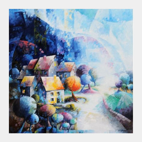Sweet House Square Art Prints | Artist : Béatrice BEDEUR