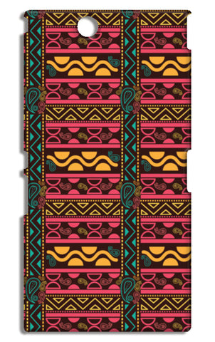 Abstract geometric pattern african style Sony Xperia Z Ultra Cases | Artist : Designerchennai