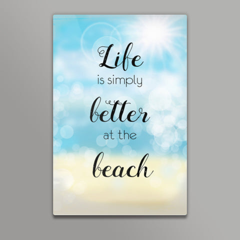 Life at beach Metal Prints | Artist : Not Just Doodle