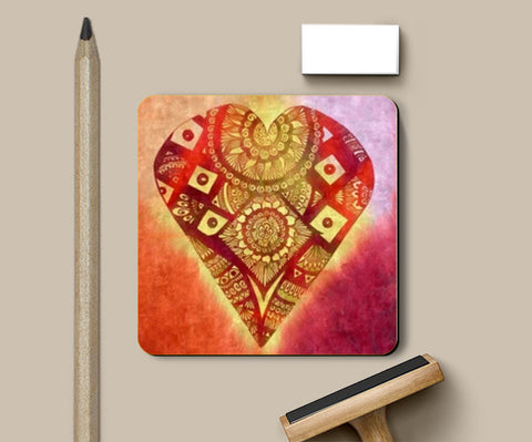Coasters, Heart Zectangle Coasters | Artist : Himani Mahajan, - PosterGully