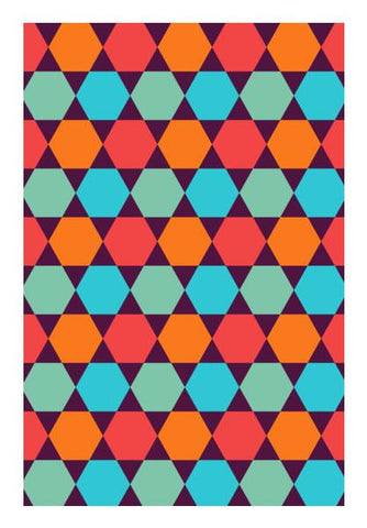 PosterGully Specials, Geometric small square tile pattern Wall Art | Artist : Designerchennai, - PosterGully