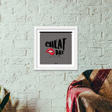 Cheat Day ;) Premium Square Italian Wooden Frames | Artist : Soulcurrry