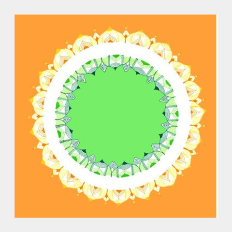 Mandala Art | Republic Day Square Art Prints | Artist : Amulya Jayapal