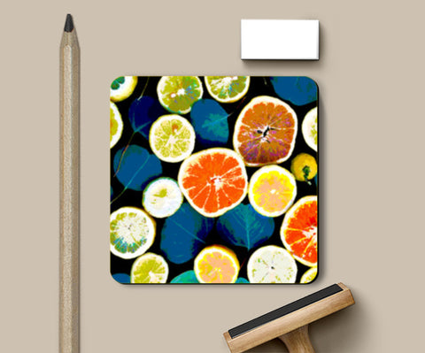 PosterGully Coasters, Oranges Coasters | Artist : Shrishti Chouhan, - PosterGully