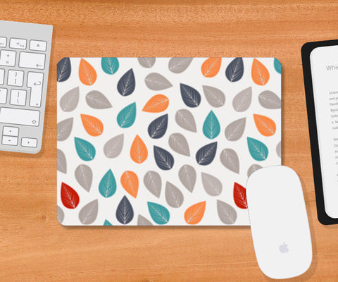 Seamless pattern with multicolored leaf on light background Mousepad | Artist : Designerchennai