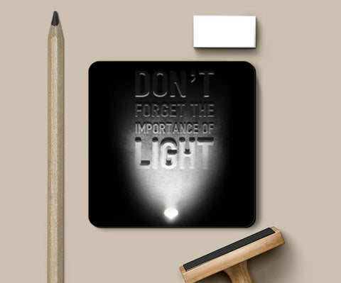 Importance of light Coasters | Artist : Abhishek Faujdar