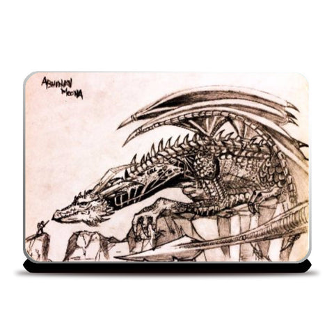 Laptop Skins, Dragon Sketch Laptop Skin | Artist: Abhinav Moona, - PosterGully