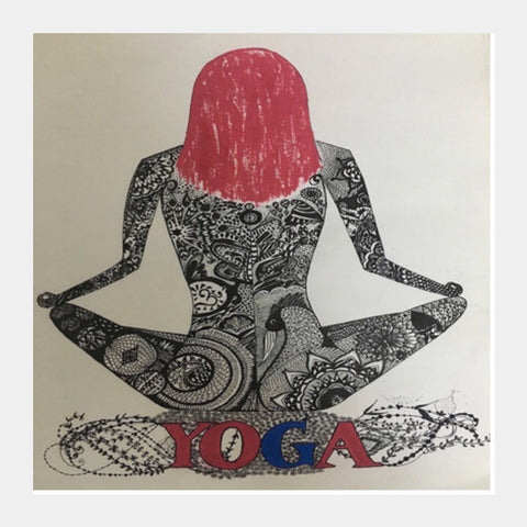 Yoga Square Art Prints | Artist : Quirky Designs by Priyanka Singhania