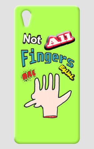 Not All Fingers Are Equal (Green Back) One Plus X Cases | Artist : Nitin Kapoor