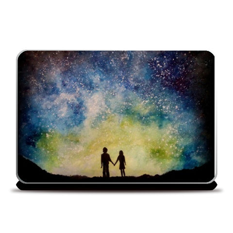 Starry night love Laptop Skins | Artist : Sukanya Chakraborty