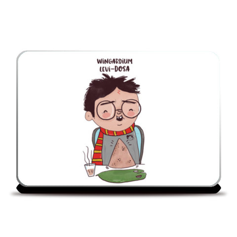 Harry Potter & Dosa Laptop Skins | Artist : Doodleodrama