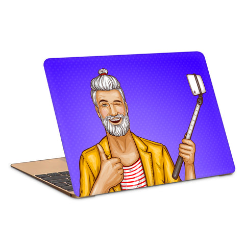 Cool Man Taking A Selfie Artwork Laptop Skin
